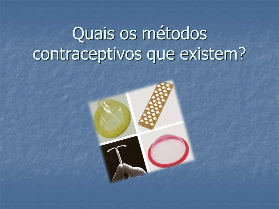 Tanto o homem como a mulher utilizam o mesmo método contraceptivo.