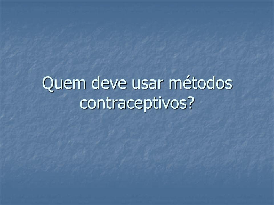 Quem deve usar métodos contraceptivos?