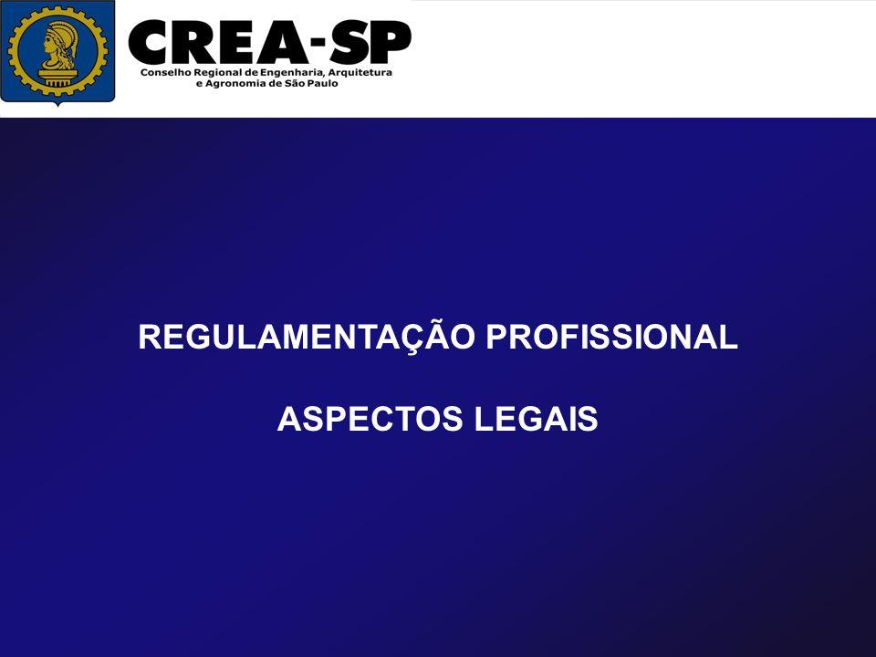 REGULAMENTAÇÃO PROFISSIONAL ASPECTOS LEGAIS