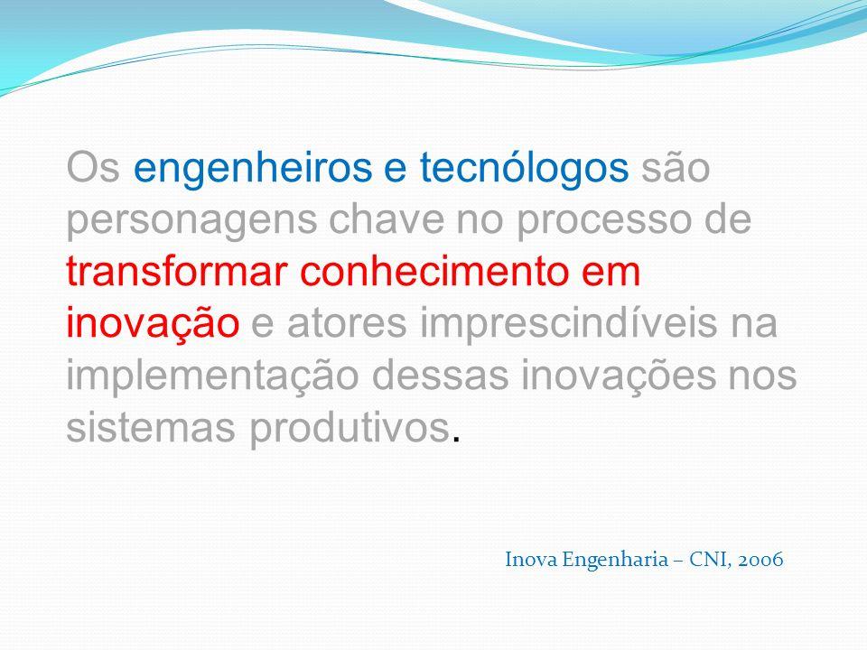 ... o desafio de aumentar a densidade tecnológica das empresas brasileiras exigirá não só muitos engenheiros de qualidade como também tecnólogos de pr