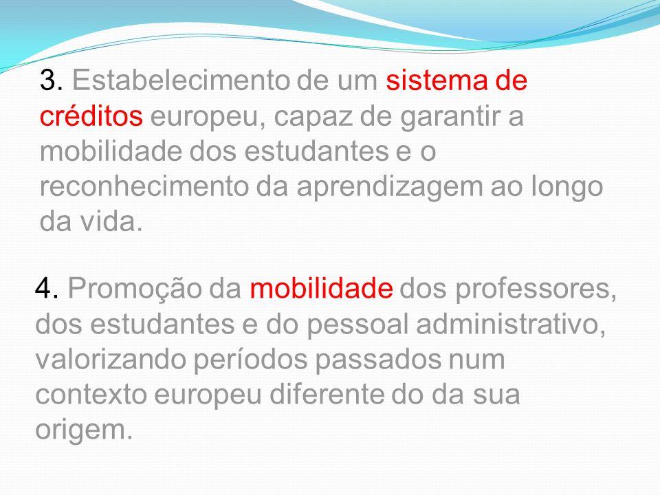 2. Adoção de um sistema baseado em dois ciclos principais, o graduado e o pós- graduado, em que o graduado terá a duração mínima de três anos, e o pós