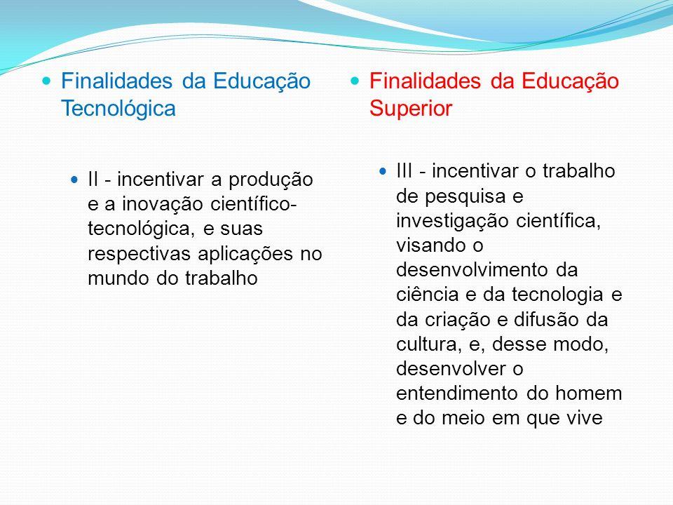 DIRETRIZES CURRICULARES - CNE / CP 03/02 LDB 9394/96 – EDUCAÇÃO SUPERIOR Finalidades da Educação Tecnológica I - incentivar o desenvolvimento da capac