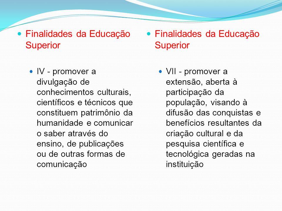 Finalidades da Educação Tecnológica VI - adotar a flexibilidade, a interdisciplinaridade, a contextualização e a atualização permanente dos cursos e s