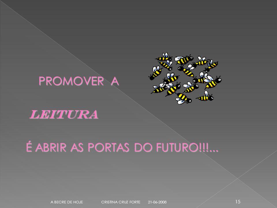 PROMOVER A PROMOVER A LEITURA LEITURA É ABRIR AS PORTAS DO FUTURO!!!...