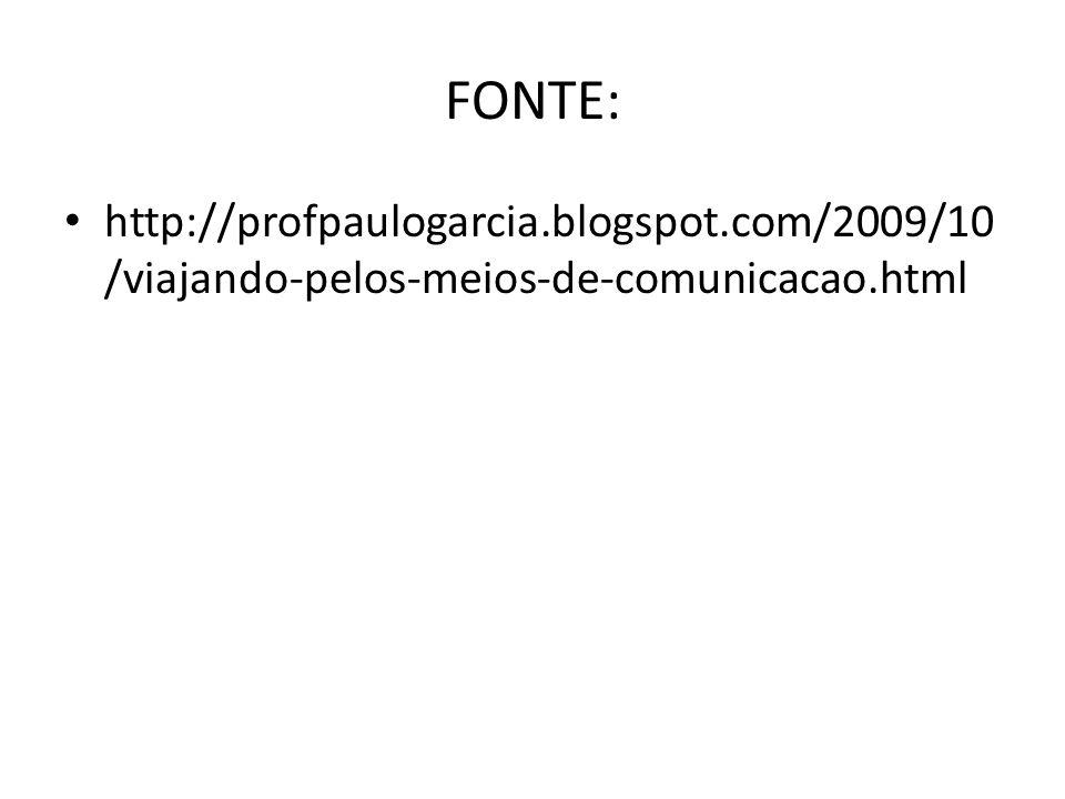 FONTE: http://profpaulogarcia.blogspot.com/2009/10 /viajando-pelos-meios-de-comunicacao.html