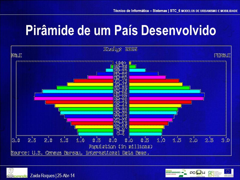Técnico de Informática – Sistemas | STC_6 MODELOS DE URBANISMO E MOBILIDADE Pirâmide de um País Desenvolvido Zaida Roques | 25-Abr-14