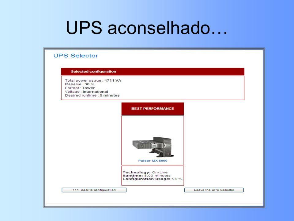 UPS aconselhado…
