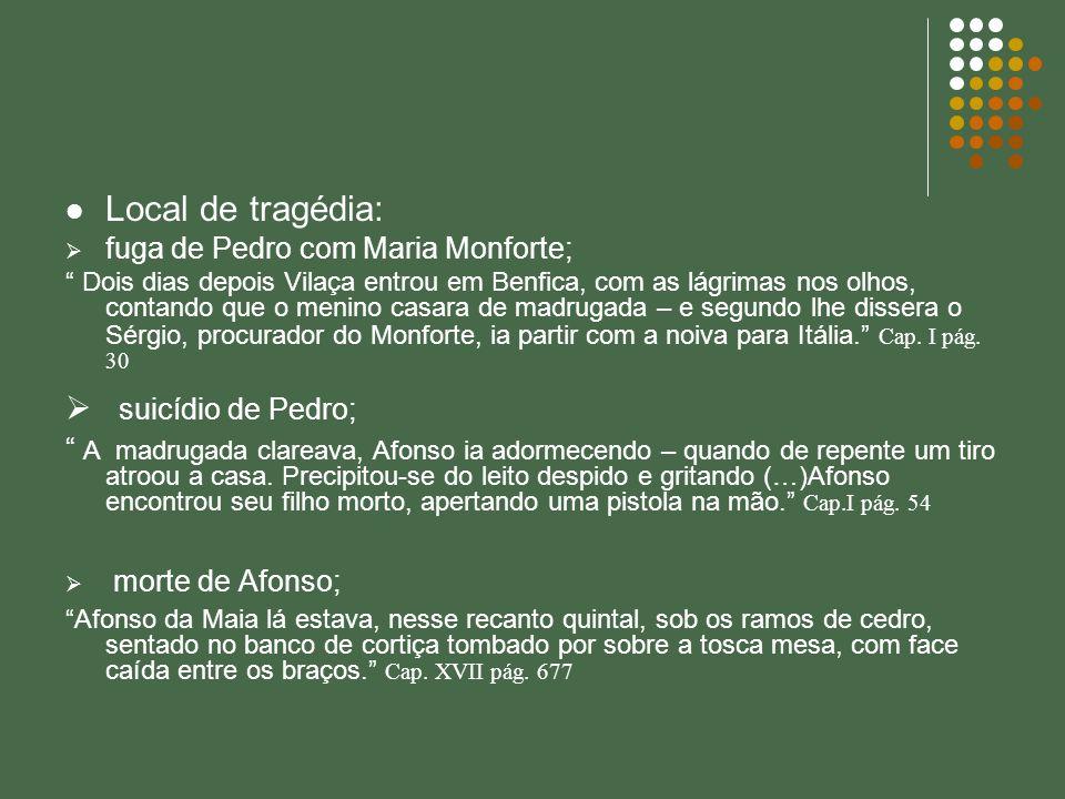 Local de tragédia: fuga de Pedro com Maria Monforte; Dois dias depois Vilaça entrou em Benfica, com as lágrimas nos olhos, contando que o menino casar