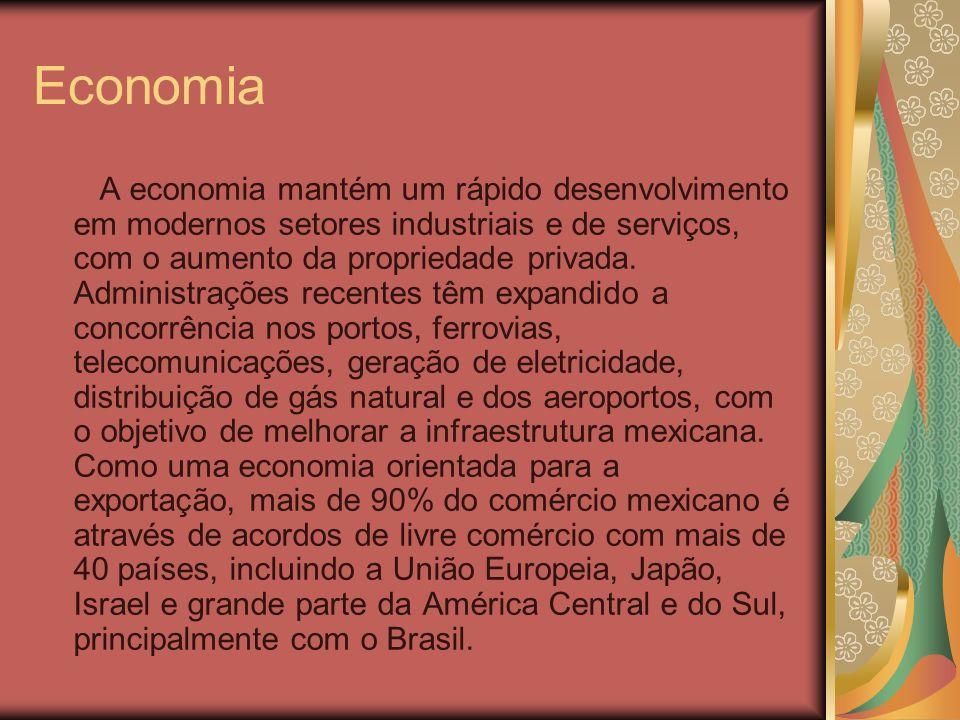 Economia A economia mantém um rápido desenvolvimento em modernos setores industriais e de serviços, com o aumento da propriedade privada. Administraçõ