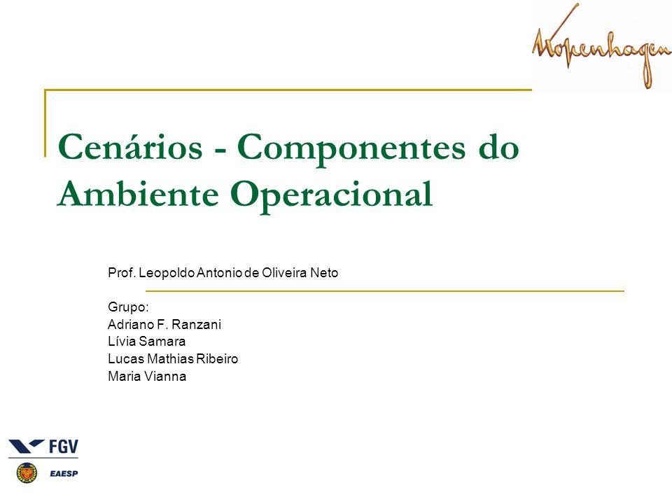 Cenários - Componentes do Ambiente Operacional Prof. Leopoldo Antonio de Oliveira Neto Grupo: Adriano F. Ranzani Lívia Samara Lucas Mathias Ribeiro Ma
