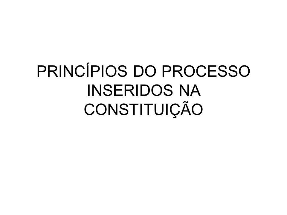 PRINCÍPIOS DO PROCESSO INSERIDOS NA CONSTITUIÇÃO