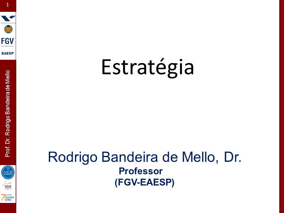1 Prof. Dr. Rodrigo Bandeira de Mello Estratégia Rodrigo Bandeira de Mello, Dr. Professor (FGV-EAESP)