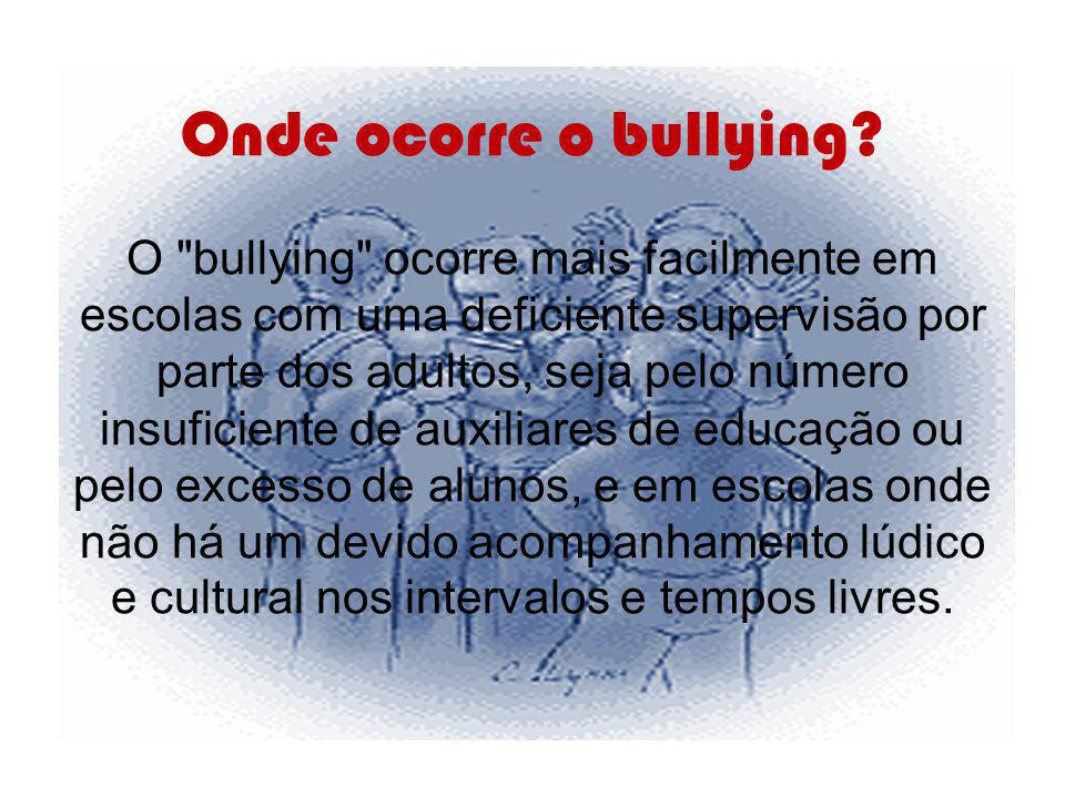 Onde ocorre o bullying? O