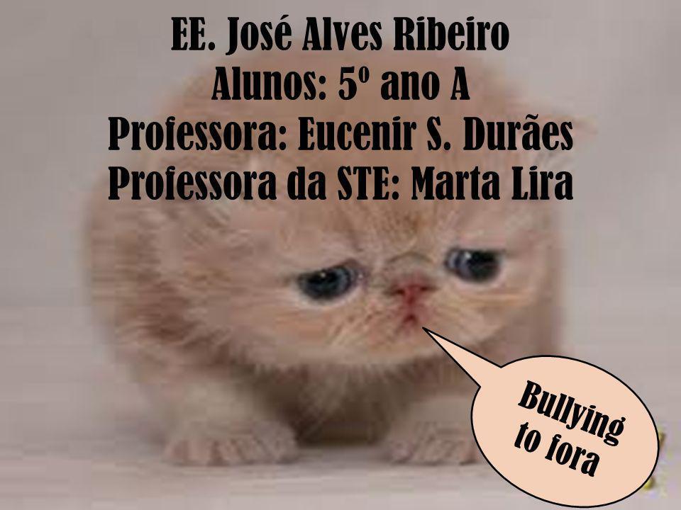 EE. José Alves Ribeiro Alunos: 5º ano A Professora: Eucenir S. Durães Professora da STE: Marta Lira Bullying to fora