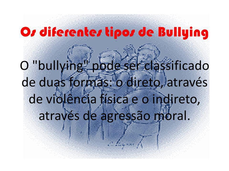 Os diferentes tipos de Bullying O