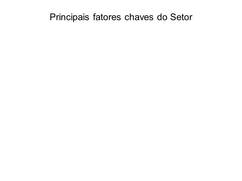 Principais fatores chaves do Setor