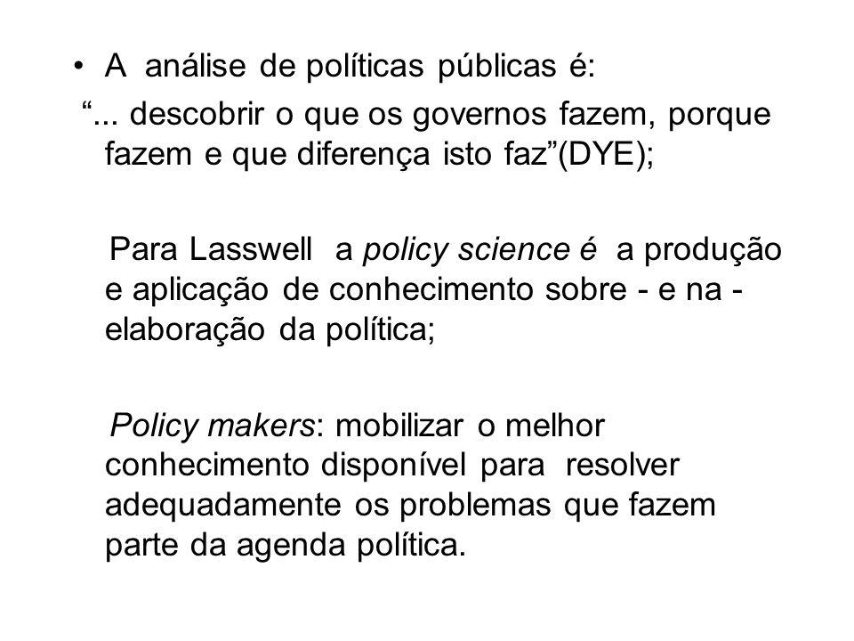 A análise de políticas públicas é:...