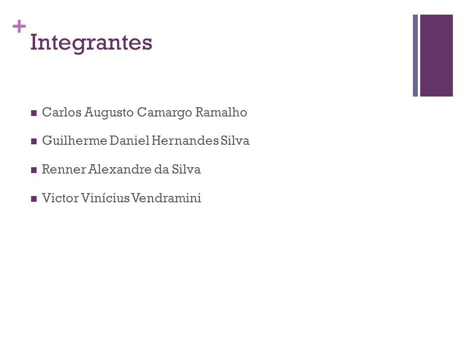 + Integrantes Carlos Augusto Camargo Ramalho Guilherme Daniel Hernandes Silva Renner Alexandre da Silva Victor Vinícius Vendramini