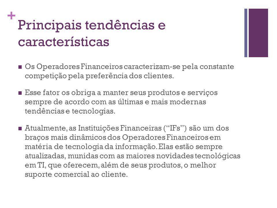 + Principais tendências e características Os Operadores Financeiros caracterizam-se pela constante competição pela preferência dos clientes.