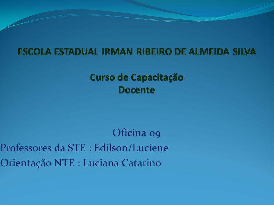 Oficina 09 Professores da STE : Edilson/Luciene Orientação NTE : Luciana Catarino