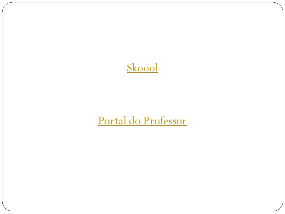 Skoool Portal do Professor
