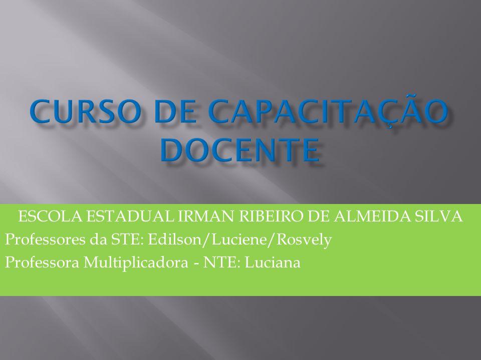 ESCOLA ESTADUAL IRMAN RIBEIRO DE ALMEIDA SILVA Professores da STE: Edilson/Luciene/Rosvely Professora Multiplicadora - NTE: Luciana