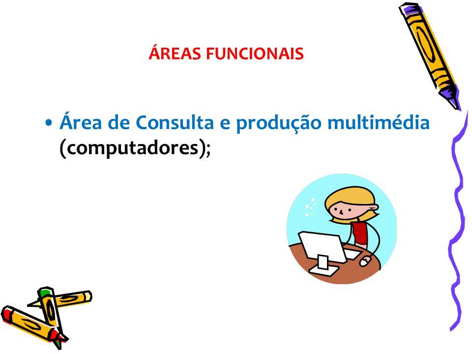 Área de Consulta e produção multimédia (computadores); ÁREAS FUNCIONAIS