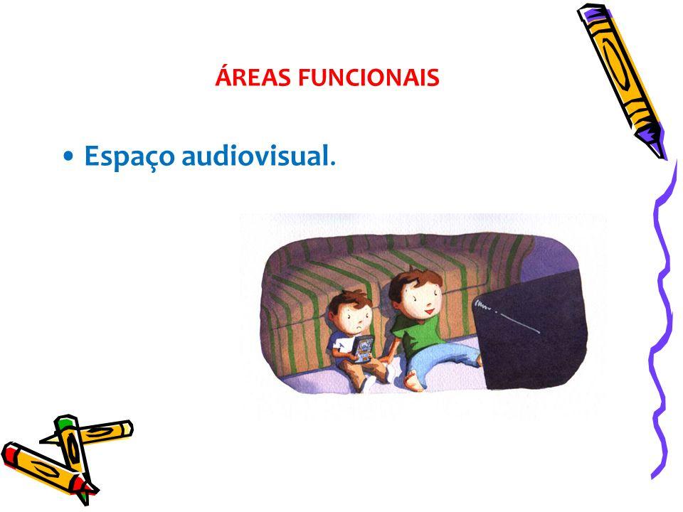 Espaço audiovisual. ÁREAS FUNCIONAIS