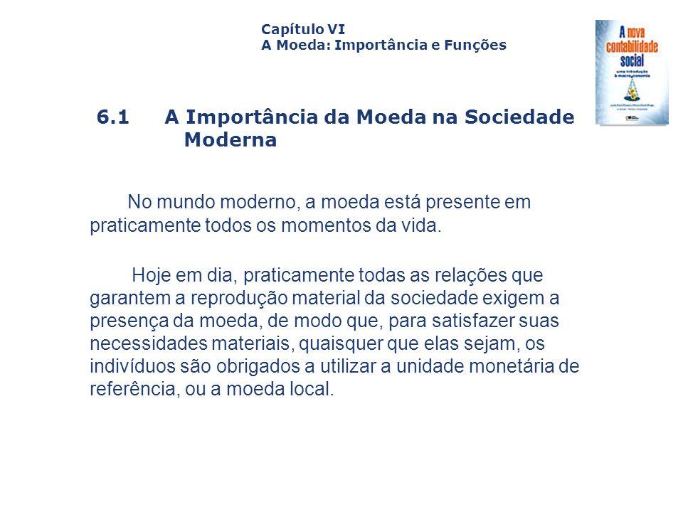 6.1 A Importância da Moeda na Sociedade Moderna Capa da Obra Capítulo VI A Moeda: Importância e Funções No mundo moderno, a moeda está presente em pra