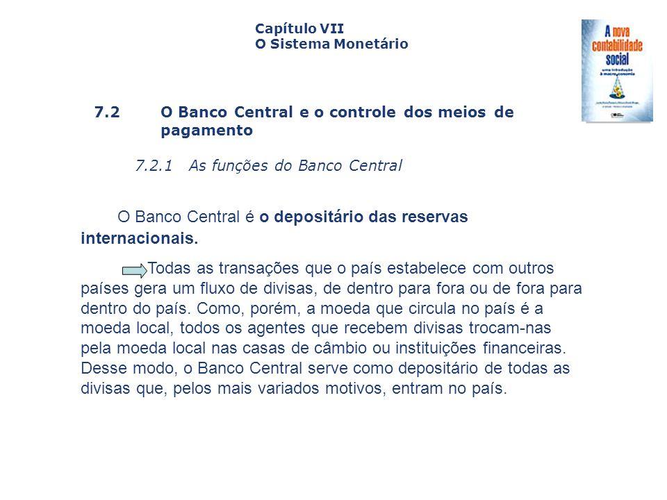 7.2 O Banco Central e o controle dos meiosde pagamento 7.2.1 As funções do Banco Central Capa da Obra Capítulo VII O Sistema Monetário O Banco Central