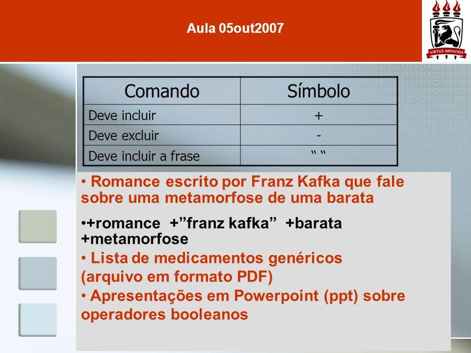 Romance escrito por Franz Kafka que fale sobre uma metamorfose de uma barata +romance +franz kafka +barata +metamorfose Lista de medicamentos genérico