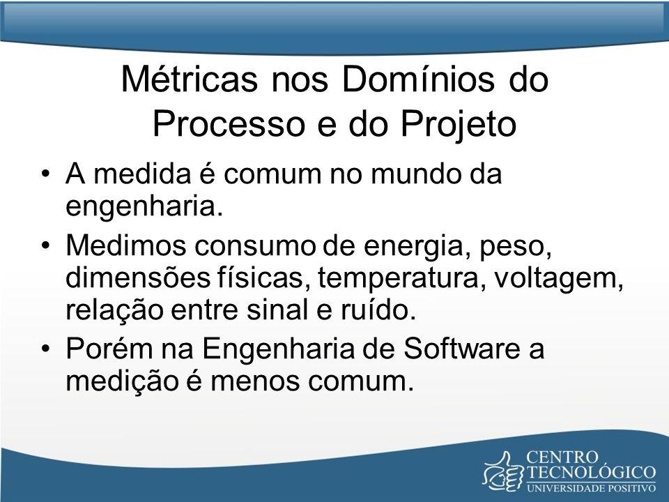 Métricas nos Domínios do Processo e do Projeto A medida é comum no mundo da engenharia.