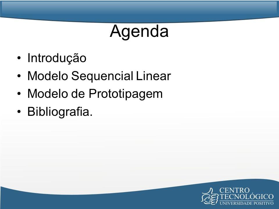 Modelo de Prototipagem Utilizado quando o cliente não definiu detalhadamente os requisitos de entrada, processamento e saída; Capacita o desenvolvedor criar um modelo do software que será implementado: –1.