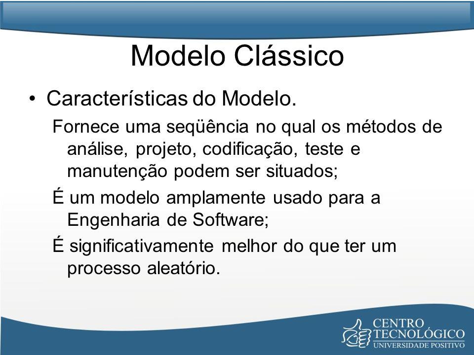 Problemas: –Projetos reais raramente seguem um fluxo sequencial que o modelo propõe.