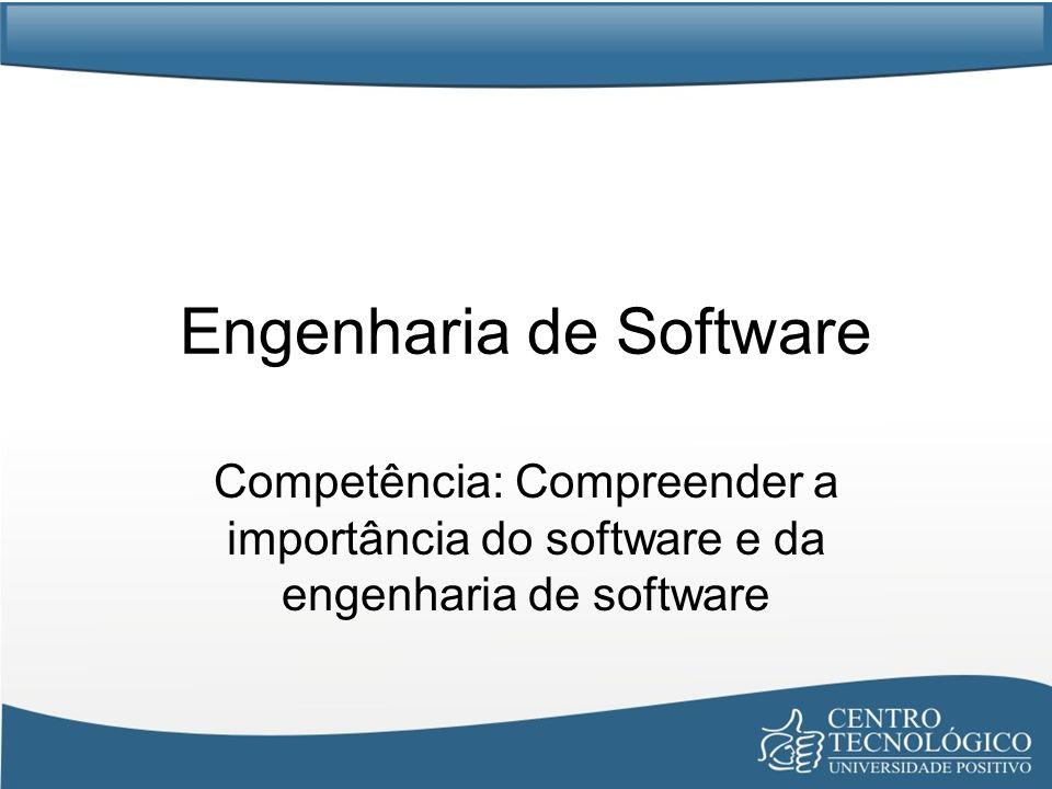 Engenharia de Software Competência: Compreender a importância do software e da engenharia de software