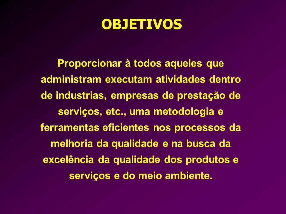 Proporcionar à todos aqueles que administram executam atividades dentro de industrias, empresas de prestação de serviços, etc., uma metodologia e ferr