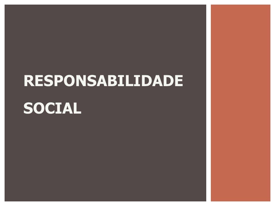 RESPONSABILIDADE SOCIAL É a forma de gestão que se define pela relação ética e transparente da empresa com todos os públicos com os quais ela se relaciona e pelo estabelecimento de metas empresariais compatíveis com o desenvolvimento sustentável da sociedade, preservando recursos ambientais, e promovendo o desenvolvimento social.