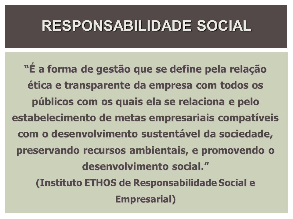 RESPONSABILIDADE SOCIAL CORPORATIVA RSC é definido pela World Business Council for Sustainable Development (WBCSD) como: a decisão da empresa de contribuir ao desenvolvimento sustentável, trabalhando com seus empregados, suas famílias e a comunidade local, assim como com a sociedade em seu conjunto, para melhorar sua qualidade de vida.