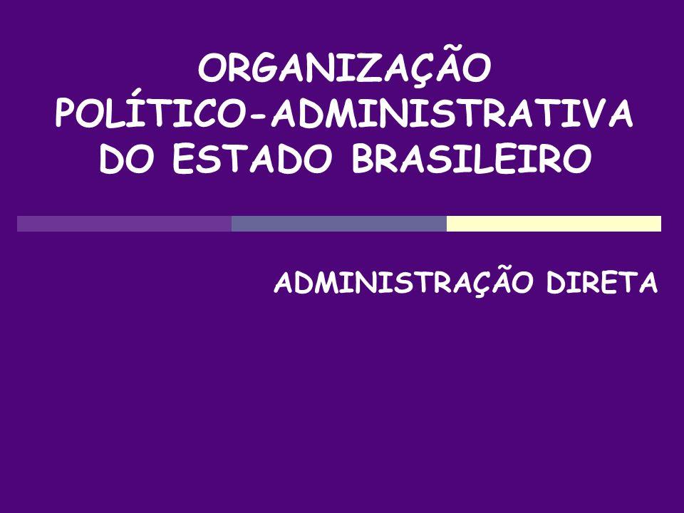 ORGANIZAÇÃO POLÍTICO-ADMINISTRATIVA DO ESTADO BRASILEIRO ADMINISTRAÇÃO DIRETA