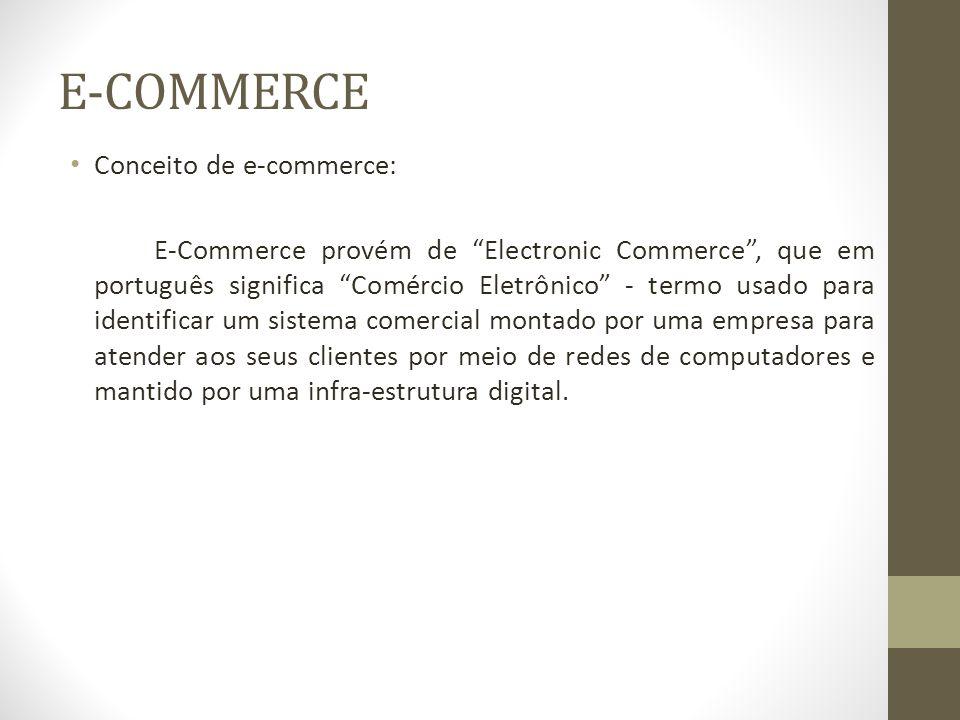 E-COMMERCE Abordagem do e-commerce: O comercio eletrônico cobre os processos pelos quais os consumidores, fornecedores e parceiros de negócios são atingidos, atingindo atividades como vendas, marketing, recepção de pedidos, entregas e serviços ao consumidor, transações e troca de informações entre empresas.