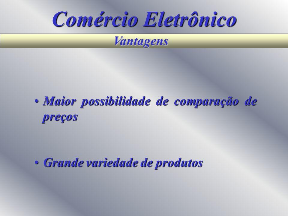 Comércio Eletrônico Alternativas Rede PrivadaRede Privada Troca eletrônica de documentos (EDI) Troca eletrônica de documentos (EDI) Extranet Extranet
