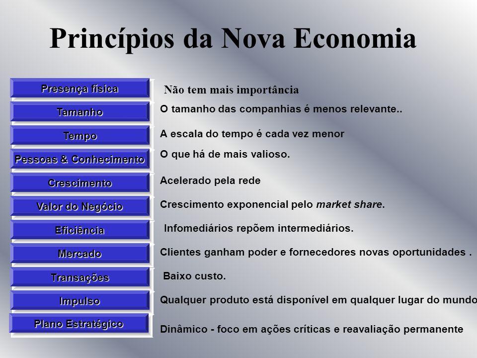 A Nova Economia Modo interamente novo de ver a Economia no país e no mundo Economia das novas tecnologias Mudanças radicais na forma como os consumido