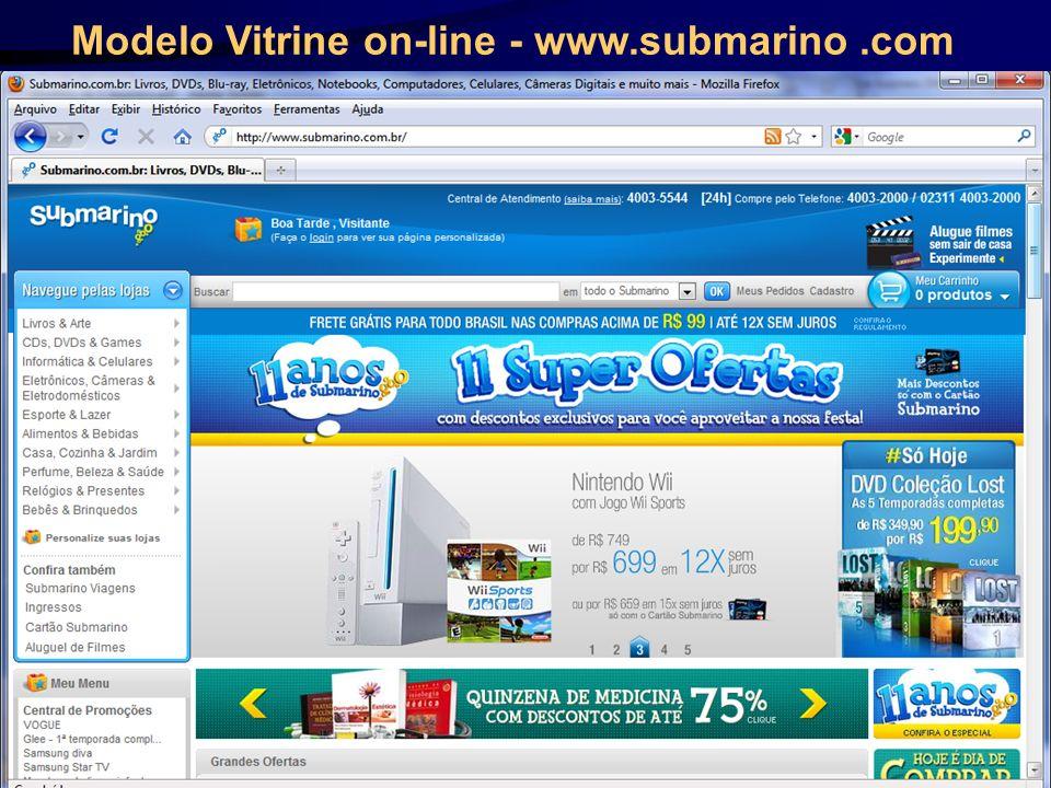 Modelo Vitrine on-line - www.submarino.com