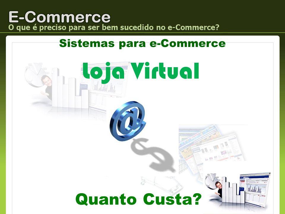 O que é preciso para ser bem sucedido no e-Commerce? Sistemas para e-Commerce Quanto Custa? Loja Virtual
