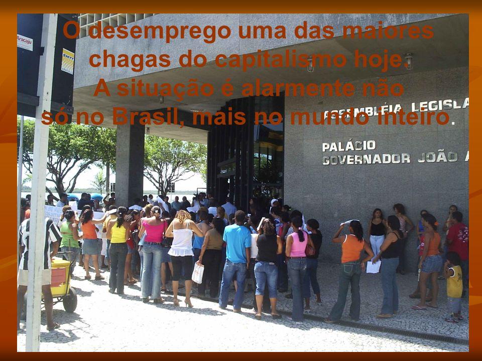 O desemprego uma das maiores chagas do capitalismo hoje. A situação é alarmente não só no Brasil, mais no mundo inteiro.