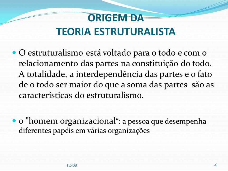 ORIGEM DA TEORIA ESTRUTURALISTA O estruturalismo está voltado para o todo e com o relacionamento das partes na constituição do todo. A totalidade, a i