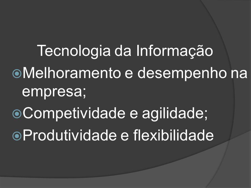 Melhoramento e desempenho na empresa; Competividade e agilidade; Produtividade e flexibilidade