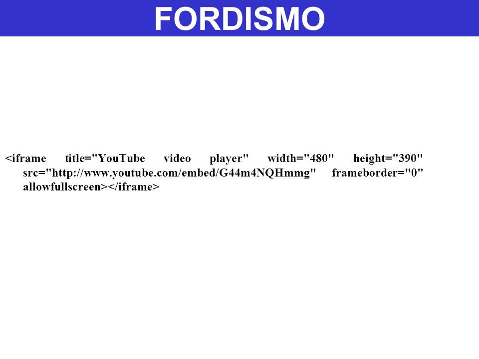 Ford representou, por décadas, um modelo quase perfeito de aplicação sistemática e maciça dos conceitos tayloristas de organização da produção.