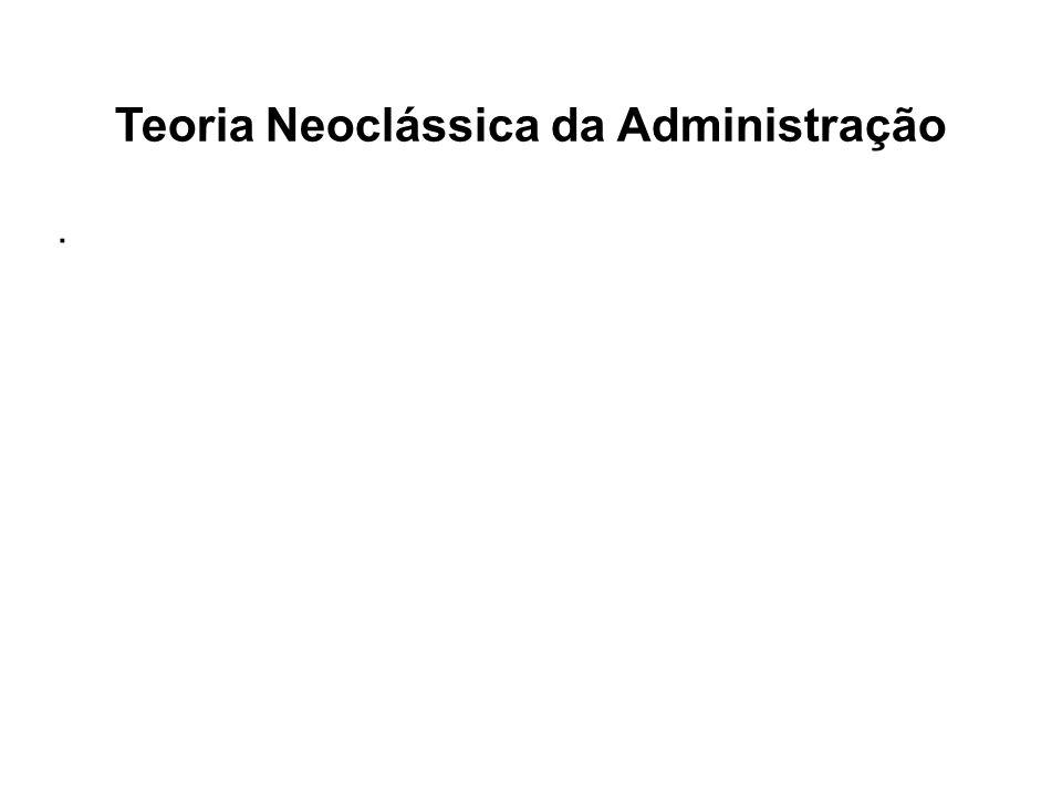 Teoria Neoclássica da Administração.