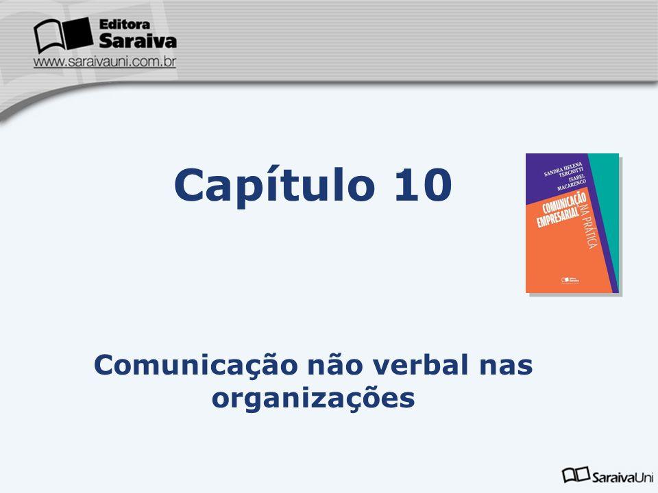 Capa da Obra Capítulo 10 Comunicação não verbal nas organizações Comunicação não verbal É a que não ocorre com sinais verbais.
